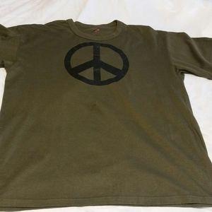 Men's army green piece T-shirt 2xl